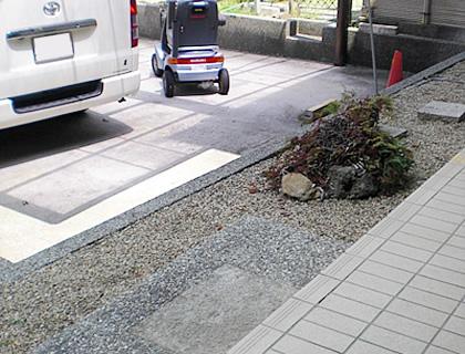 転落防止柵の設置 Before